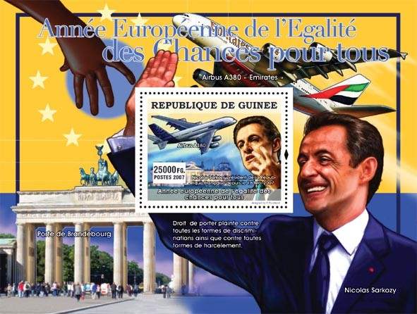 Nicolas Sarkozy - Issue of Guinée postage stamps