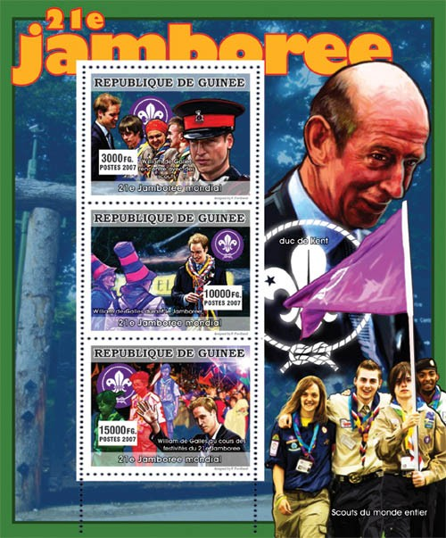 CELEBRITIES - Scouts of  21th Century - Issue of Guinée postage stamps