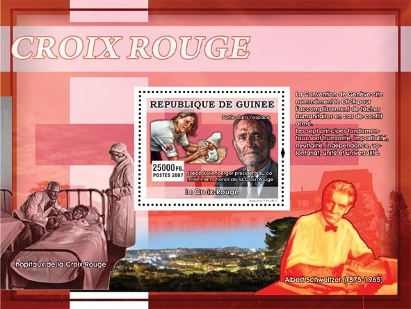 Jakob Kellenberger - Issue of Guinée postage stamps