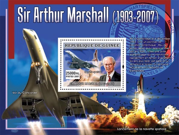 Sir Arthur Marshal ( Concorde ) - Issue of Guinée postage stamps