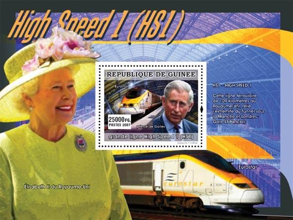Prince de Galles, Eurostar ( Elisabeth II) - Issue of Guinée postage stamps