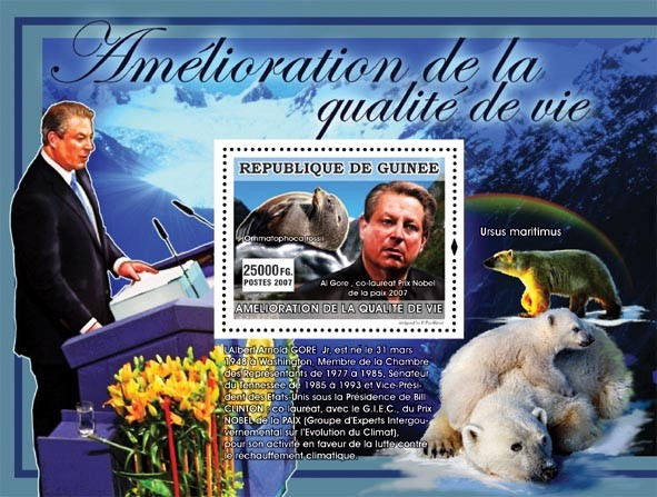 Al Gore (Sea Lion, White Bears) - Issue of Guinée postage stamps