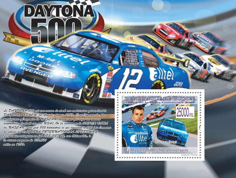 Ryan Newman, Penske Racing ( Dogde ) - Issue of Guinée postage stamps