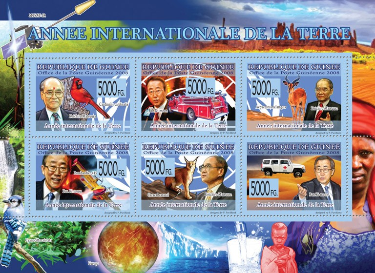 Transport  International Year of Earth ( transports & Fauna ) - Issue of Guinée postage stamps