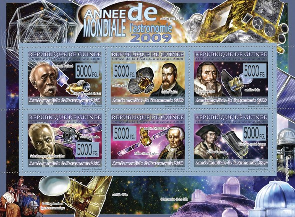 Transport  -  Year of Astronomy 2009 ?タᆵ - Issue of Guinée postage stamps