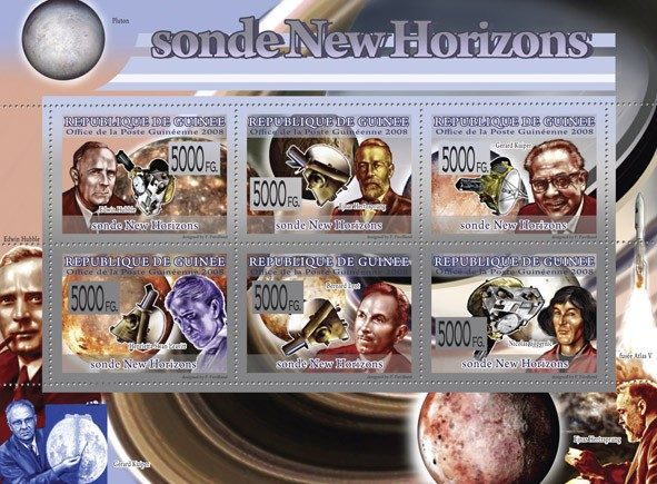 Transport   Probe New Horizons  - Issue of Guinée postage stamps