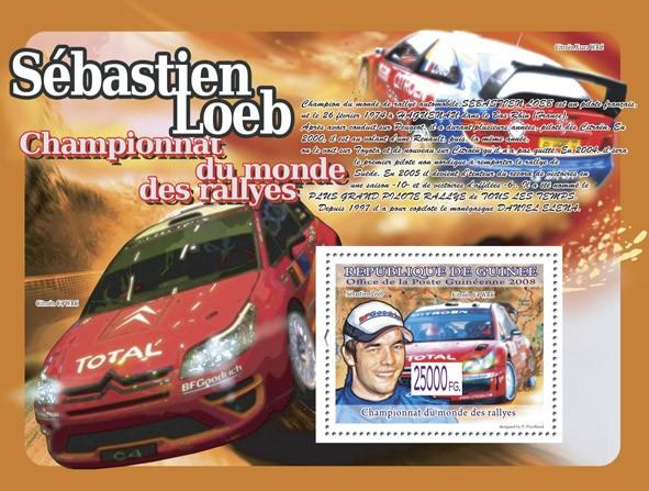 Sebastian  Leob, Citroen C4 WRC ( Citroen Xsara WRC ) - Issue of Guinée postage stamps