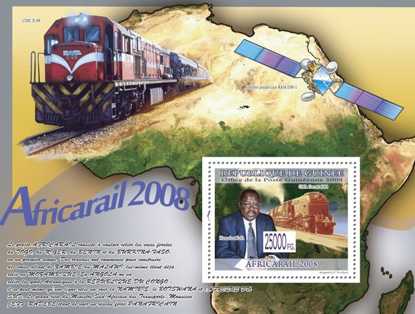 Train GMA Garratt 4088  ( Train U20C D-89 ) - Issue of Guinée postage stamps
