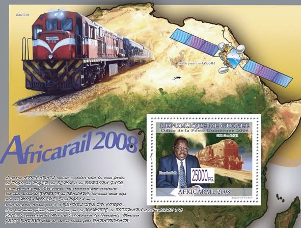 Train GMA Garratt 4088  ( Train U20C D-89 ) - Issue of Guinée postage stamps