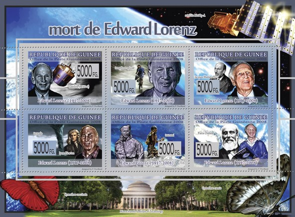 Transport    Death of Edward Lorenz ( 1917  2008 )  - Issue of Guinée postage stamps
