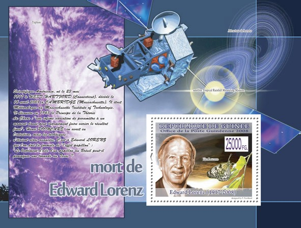 Edward Lorenz ( Space ) - Issue of Guinée postage stamps