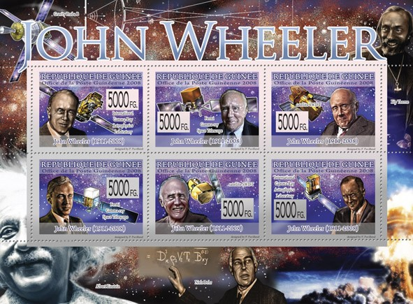 Transport   John Wheeler ( 1911  2008 ) ( Space ) - Issue of Guinée postage stamps