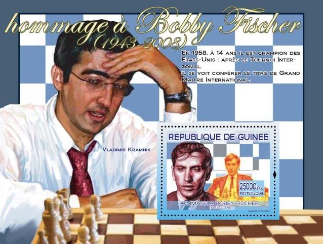 Bobby Fischer & Vladimir Kramnik - Issue of Guinée postage stamps