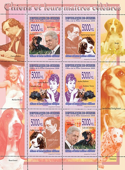 FAUNA  - Dogs & their Masters - Issue of Guinée postage stamps