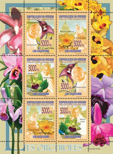 FAUNA  - Orchids - Issue of Guinée postage stamps