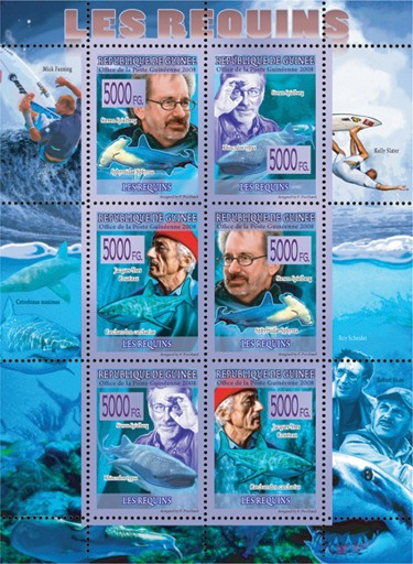 FAUNA - Sharks - Issue of Guinée postage stamps