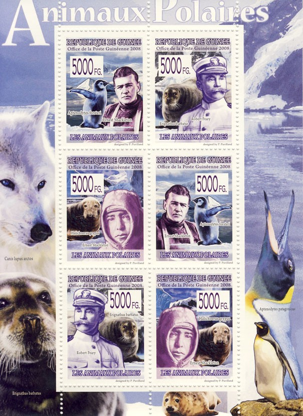 FAUNA Polar Animals - Issue of Guinée postage stamps
