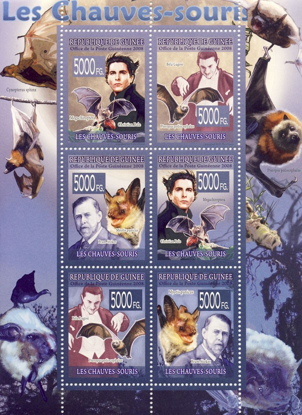 FAUNA  Bats - Issue of Guinée postage stamps