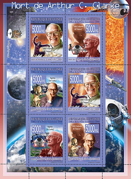 CELEBRITES - Arthur C.Clarke (1917-2008) - Issue of Guinée postage stamps