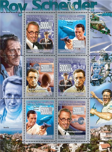 CELEBRITES - Roy Schneider ( 1932 - 2008 ) - Issue of Guinée postage stamps