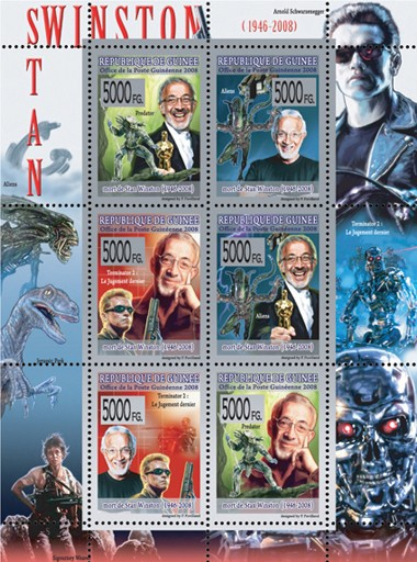 CELEBRITES  Stan Winston  ( 1946  2008 ) - Issue of Guinée postage stamps