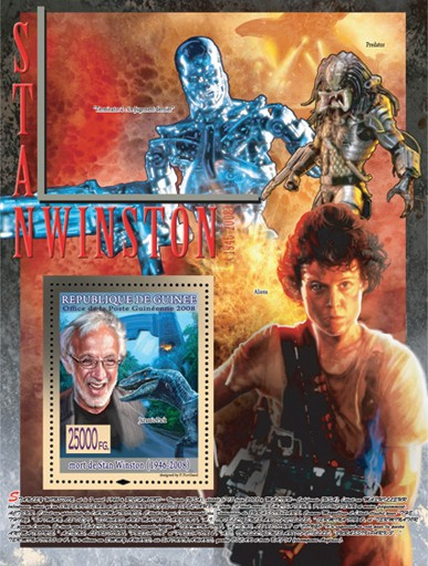 Stan Winston, Jurassic Park?タᆵ - Issue of Guinée postage stamps