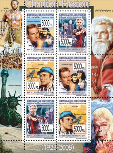 CELEBRITES   Charlton Hetson (1923  2008) - Issue of Guinée postage stamps