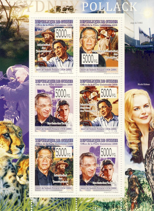 CELEBRITES   Sydney Polack (1934-2008) - Issue of Guinée postage stamps