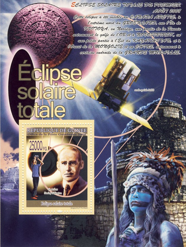 Sir A.S.Eddington ( sonde spatiale SoHO) - Issue of Guinée postage stamps