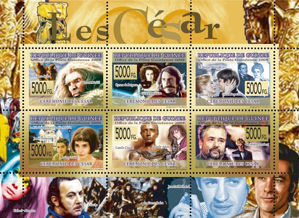 CINEMA - Cesar?タᆵ - Issue of Guinée postage stamps