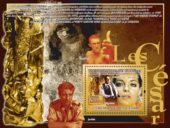 Cesar?タᆵ  Philippe Noiret, Romy Scheider - Issue of Guinée postage stamps