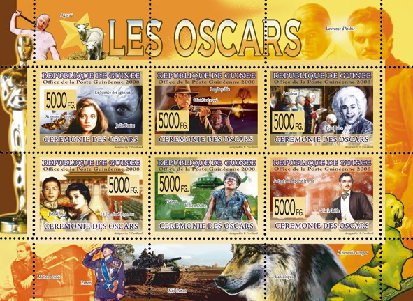 CINEMA  Oscars Nominations - Issue of Guinée postage stamps