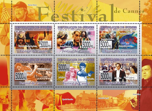 CINEMA - Festival of Cannes - Issue of Guinée postage stamps
