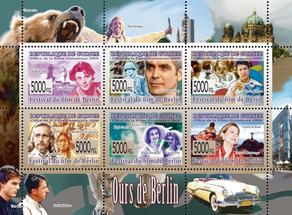 CINEMA  Bear of Berlin - Issue of Guinée postage stamps