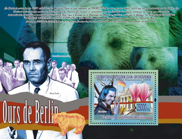 Bear of Berli, Tom Cruise, Magnolia (Henry Fonda) - Issue of Guinée postage stamps