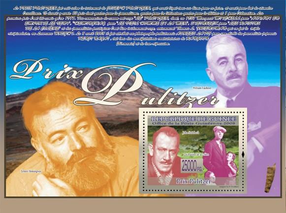 John Steinbeck  ( E.Hemingway, W.Faulkner ) - Issue of Guinée postage stamps