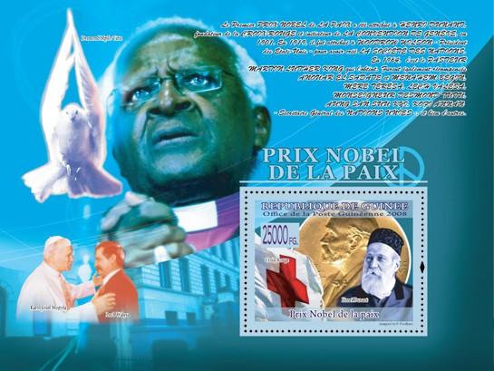 Henry Dunant, RED CROSS, ( K.J.Wojtyla & Lech Walesa ) - Issue of Guinée postage stamps