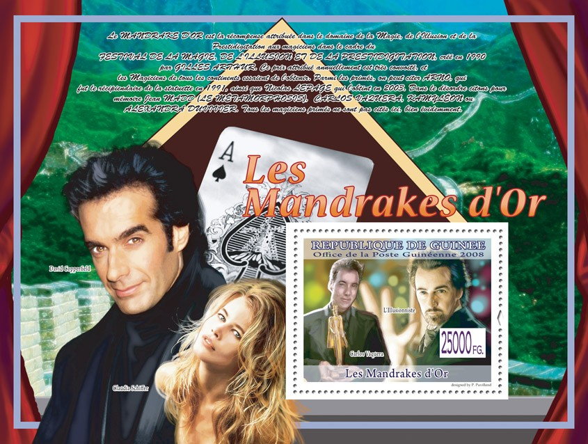 Carlos Vaquera ( Claudia Shiffer, D,Copperfield) - Issue of Guinée postage stamps