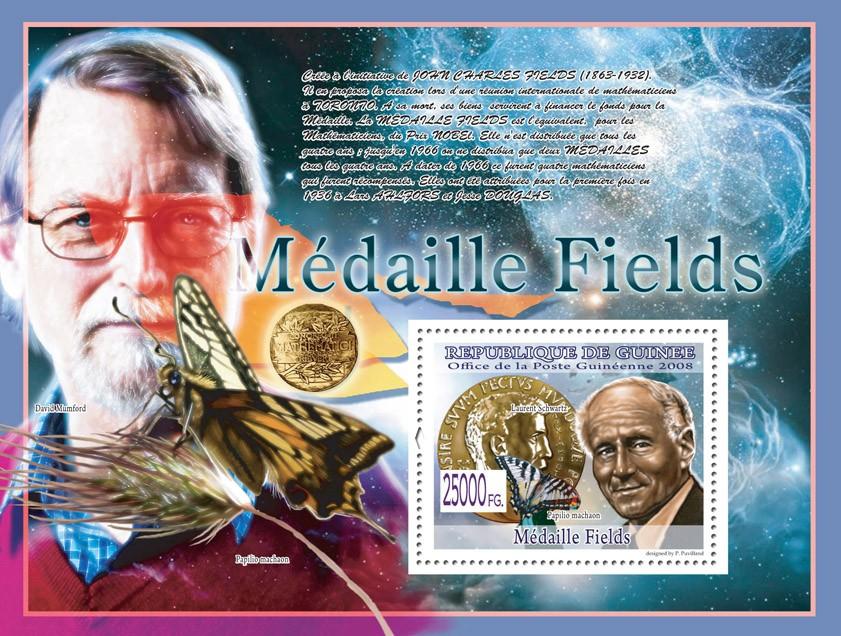 Laurent Scwartz, Butterflies ( David Mumford) - Issue of Guinée postage stamps