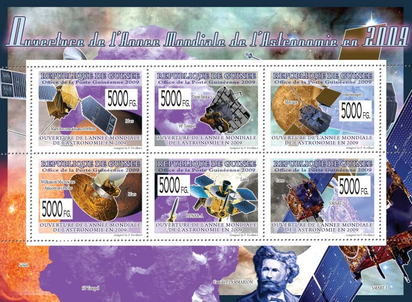 Opening of the International Year of Astronomy 2009 ( Space & Probes ) - Issue of Guinée postage stamps