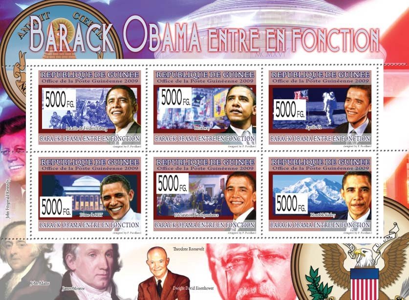 Barrack Obama Takes Office - Issue of Guinée postage stamps