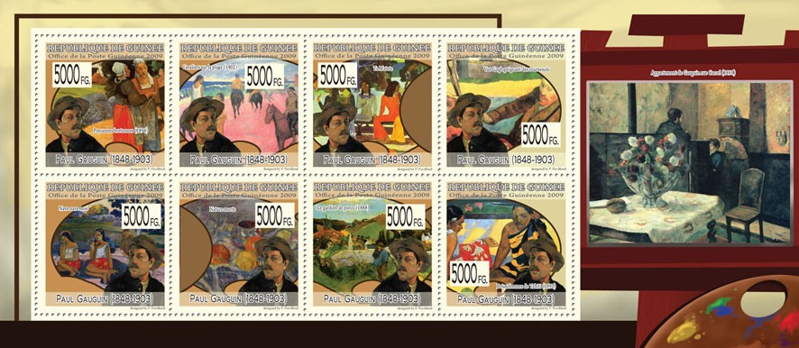 Paintings of Paul Gauguin (1848 - 19031) - Issue of Guinée postage stamps