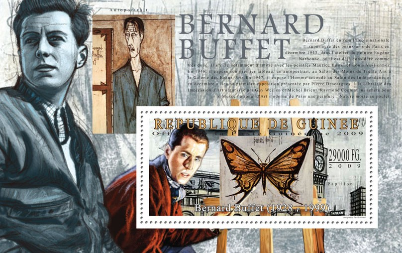 Paintings of Bernard Buffet ( 1928  1999 ) - Issue of Guinée postage stamps