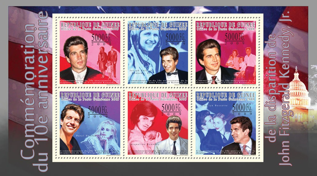 10th  Anniversary of the Disappearance of J.F.Kennedy, Jr. - Issue of Guinée postage stamps