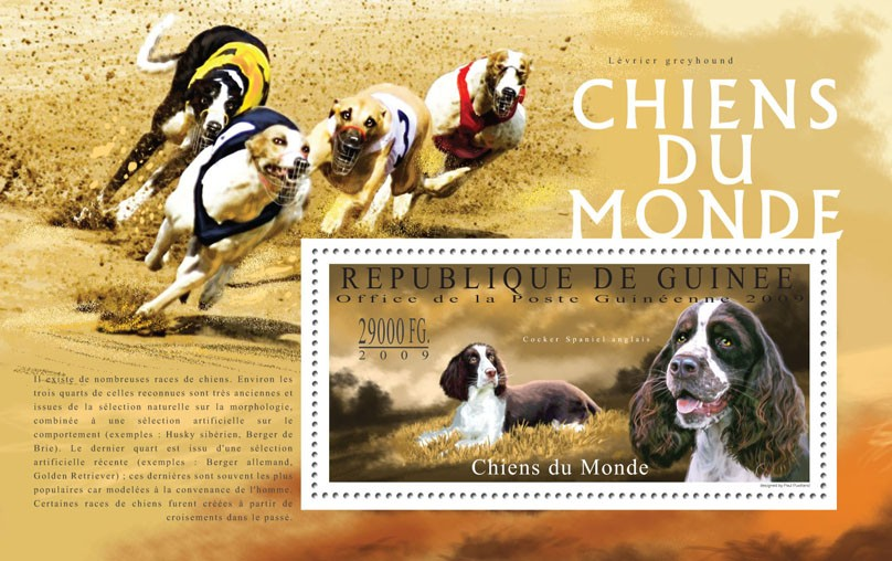 Dogs of the World, I - Issue of Guinée postage stamps