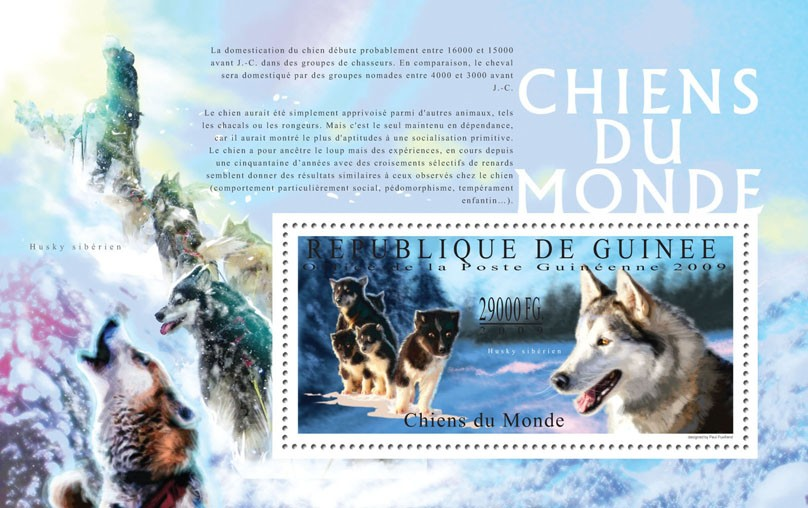 Dogs of the World, II - Issue of Guinée postage stamps