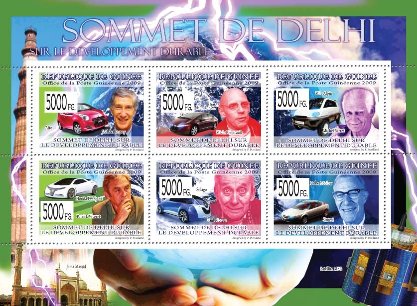 Delhi Summit on Sustainable Development  ( Cars ) - Issue of Guinée postage stamps