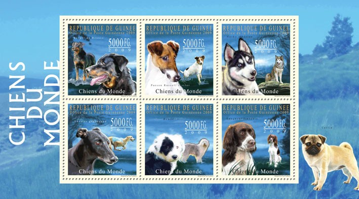 Dogs of The World III - Issue of Guinée postage stamps