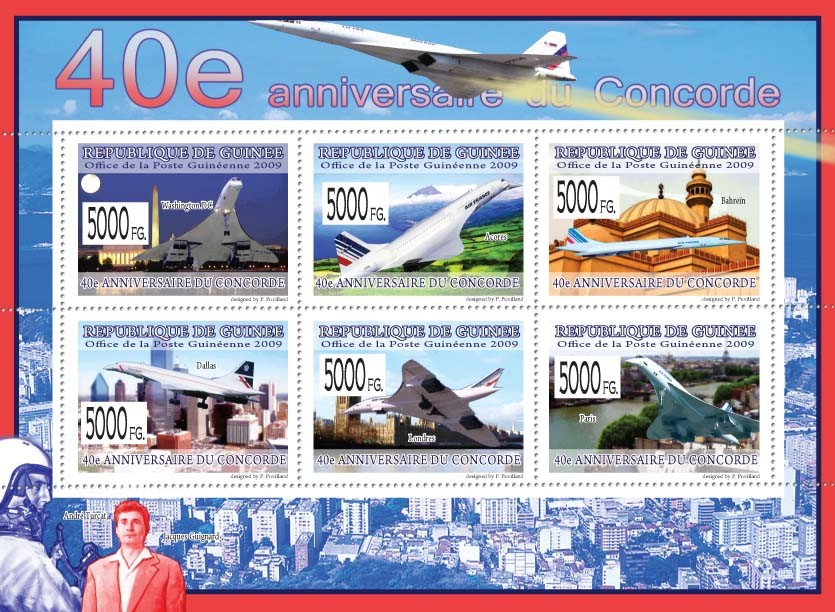40th Anniversary of Concorde  II - Issue of Guinée postage stamps