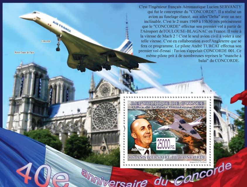 Andre Turcat, Dakar ( Notre Dame Paris ) - Issue of Guinée postage stamps